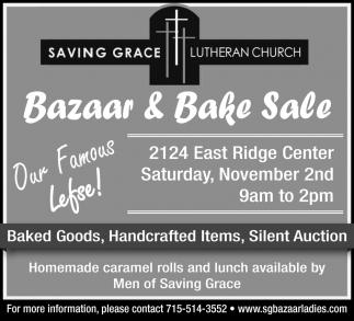 Bazaar & Bake Sale