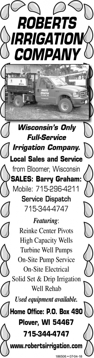 Winconsin's Only Full-Service Irrigation Company