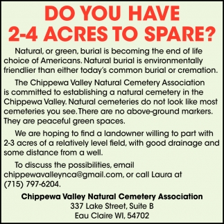 Do You Have 2-4 Acres to Spare?