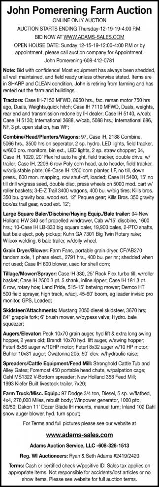 John Pmerening Farm Auction