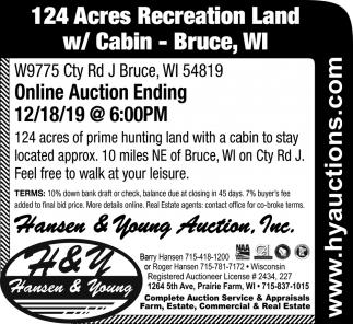 124 Acres Recreation Land
