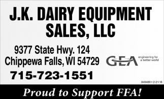 J.K. Dairy Equipment Sales, LLC