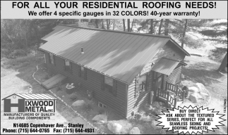 For All Your Residential Roofing Needs!
