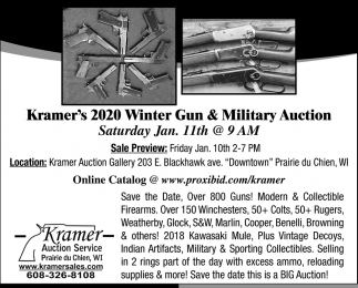 Kramer's 2020 Winter Gun & Military Auction