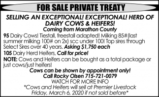 For Sale Private Treaty