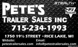 Petes Trailer Sales Inc