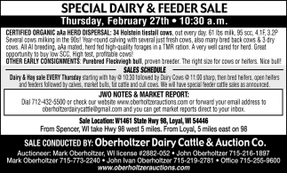 Special Dairy & Feeder Sale