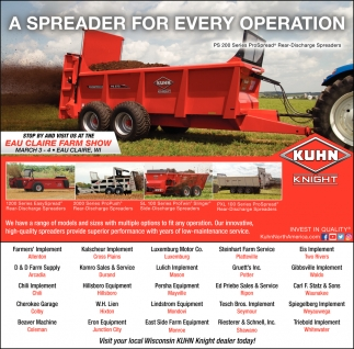 A Spreader for Every Operation