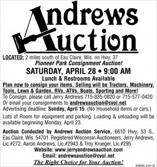Andrews Auction