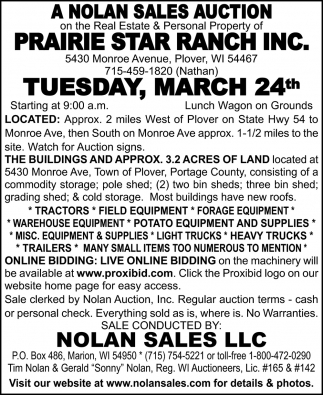 Prairie Star Ranch Inc.