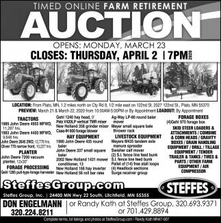 Timed Online Farm Retirement Auction