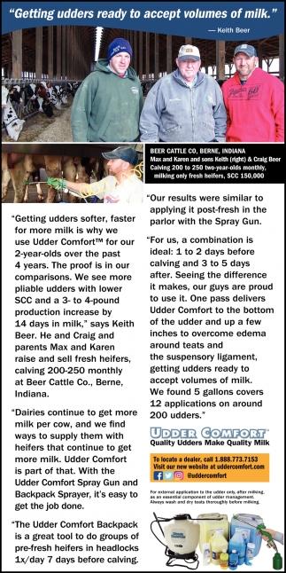 Quality Udders Make Quality Milk