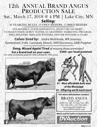 Annual Brand Angus Production Sale