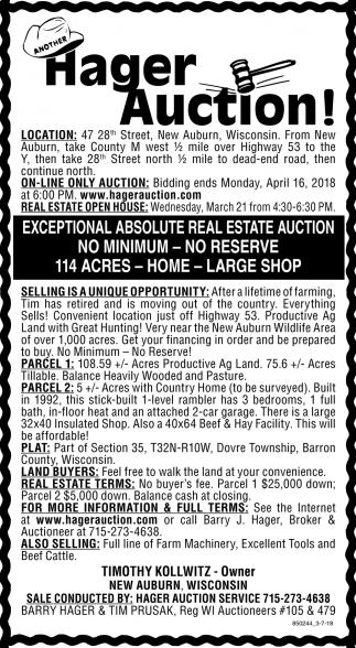 Hager Auction