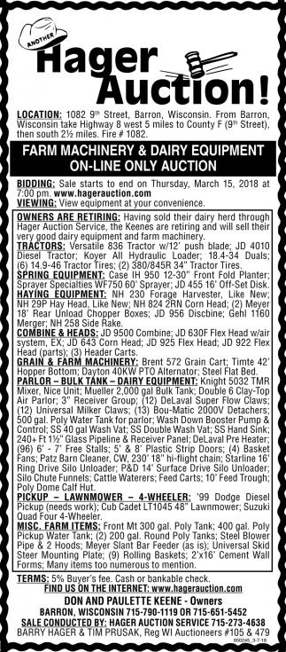 Farm Machinery & Dairy Equipment