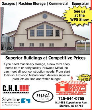 Superior Buildings at Competitive Prices