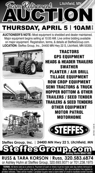 Farm Retirement Auction