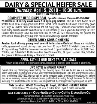 Dairy & Special Heifer Sale