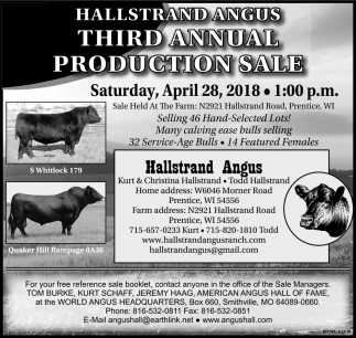 Third Annual Production Sale