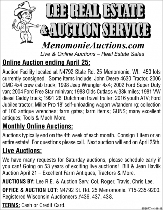 Live & Online Auctions - Real Estate Sales