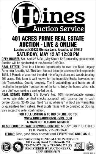 401 Acres Prime Real Estate Auction