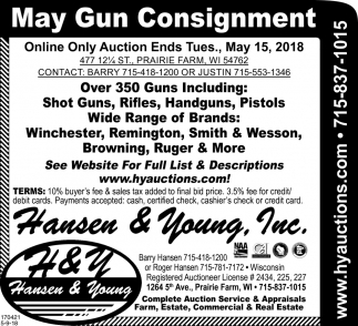 May Gun Consignment