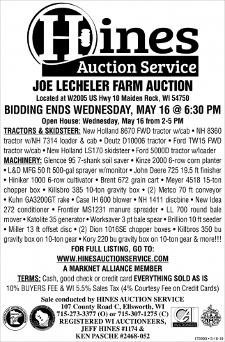 Joe Lecheler Farm Auction