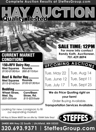 Hay Auction Quality Tested