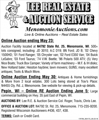 Online Auction Ending May 23