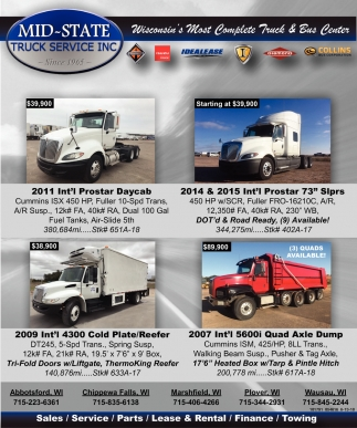 Wisconsin's Most Complete Truck & Bus Center