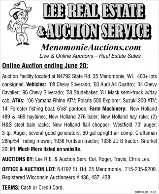 Online Auction Ending June 20