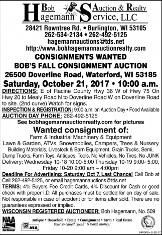 Wanted Consignment