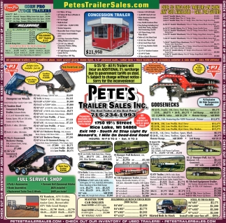 Pete's Trailer Sales Inc