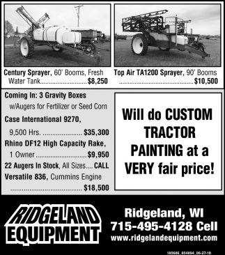Will do Custom Tractor Painting at a Very Fair Price!